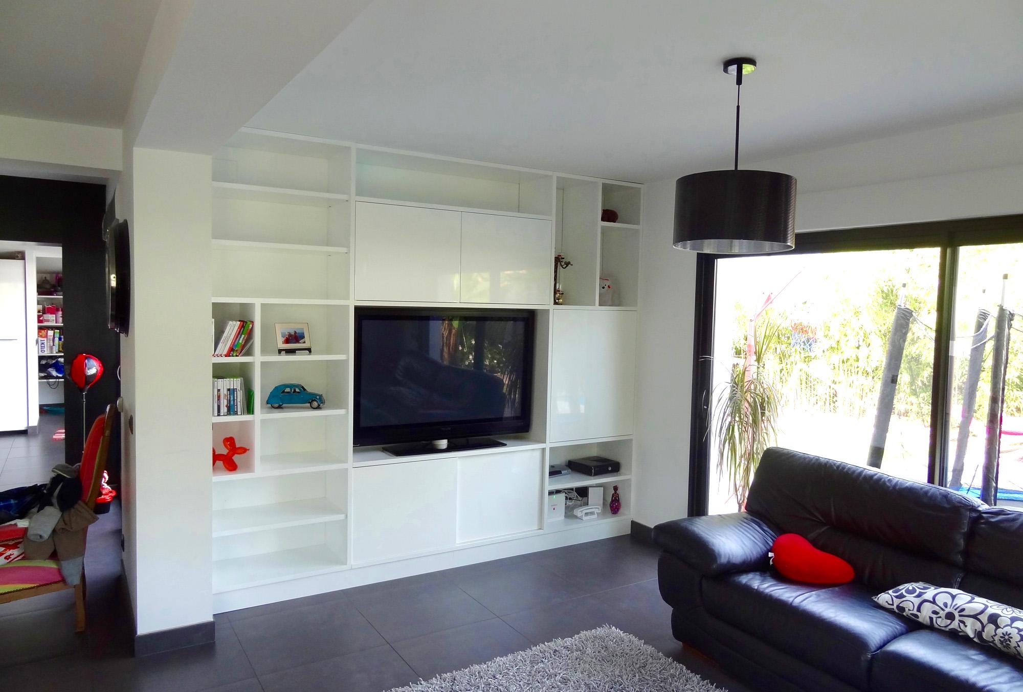 Meuble Tv Artola Menuiserie # Meuble Cloison Tv